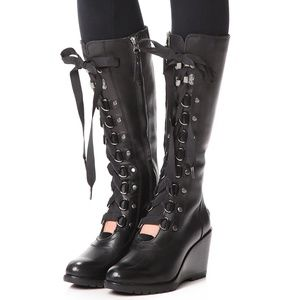 SOREL After Hours No-Tongue Tall Black Wedge Boot7